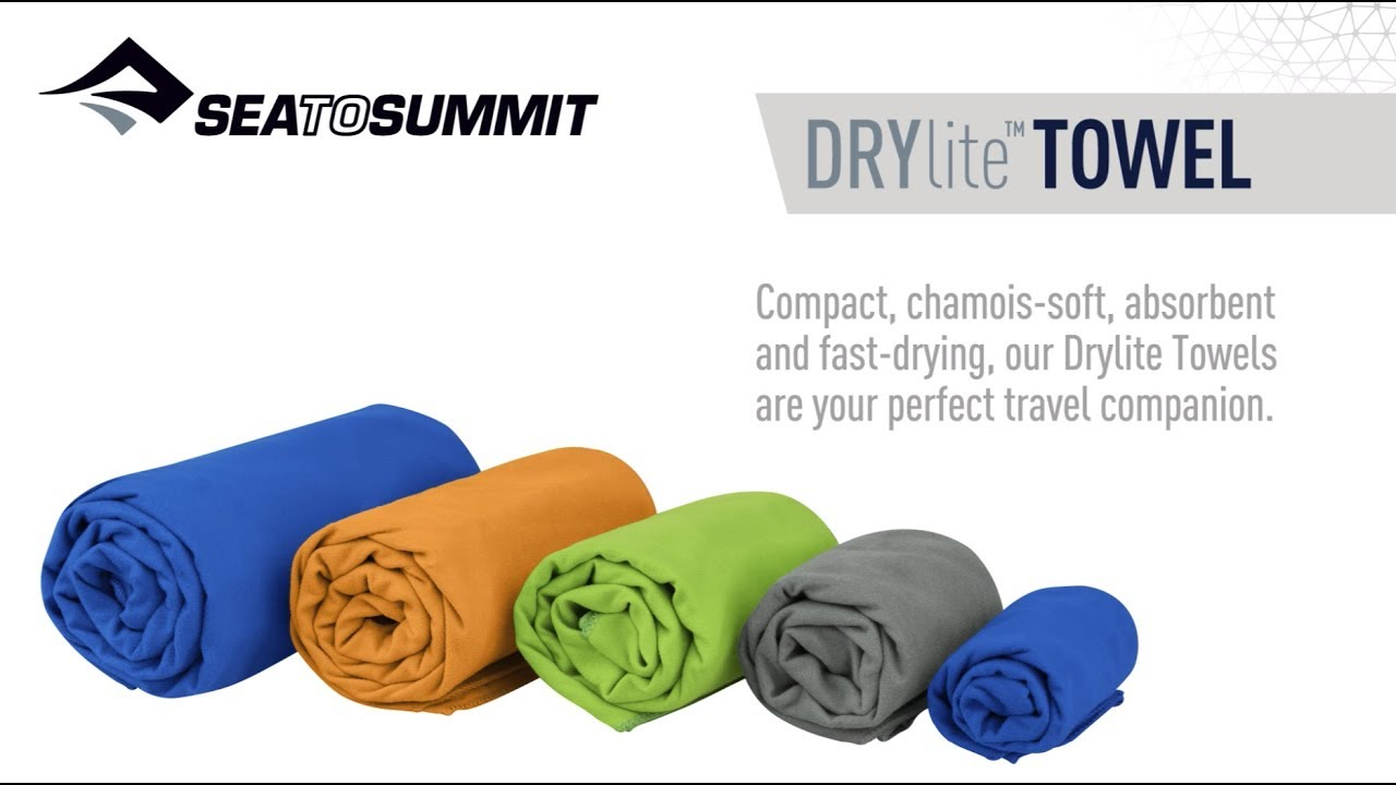 fast drying travel towel Sea to Summit AIRLITE TOWEL lightweight super compact
