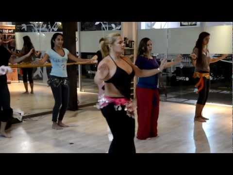 Belly Dance Class at Flying Fitness Studio, Escazu Costa Rica