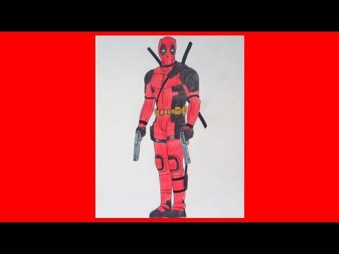 How To Draw DEADPOOL 2016, Ryan Reynolds, Como Desenhar O Deadpool