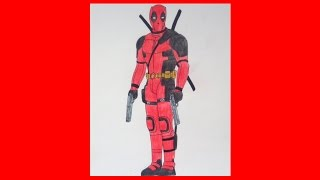 How to draw DEADPOOL 2016, Ryan Reynolds, Como desenhar o Deadpool