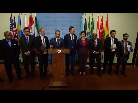 Kuwait, Kazakhstan, and other Members of the Security Council - Media Stakeout (23 Feb 2018)