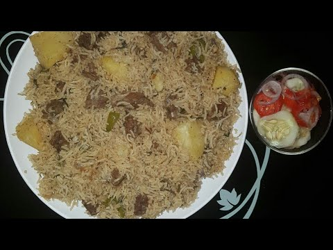BEEF PILAU IN A VERY SIMPLE WAY AND VERY FAST.