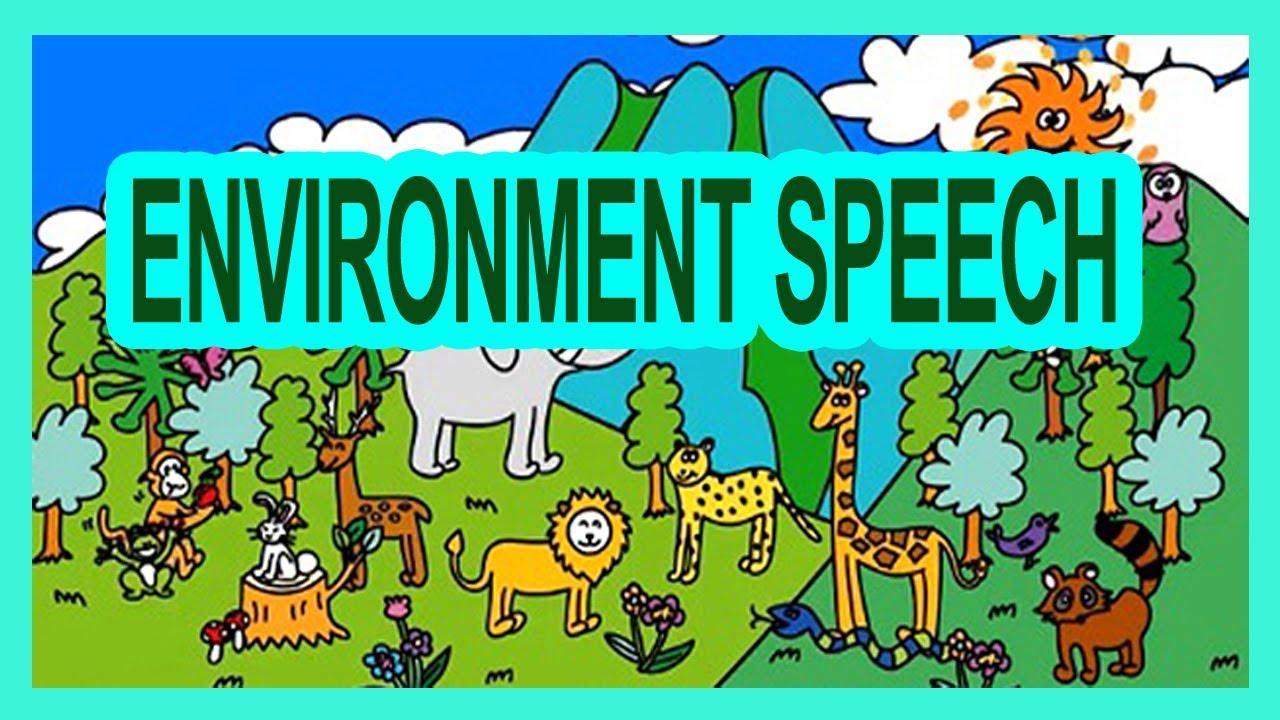 environmental pollution speech in english