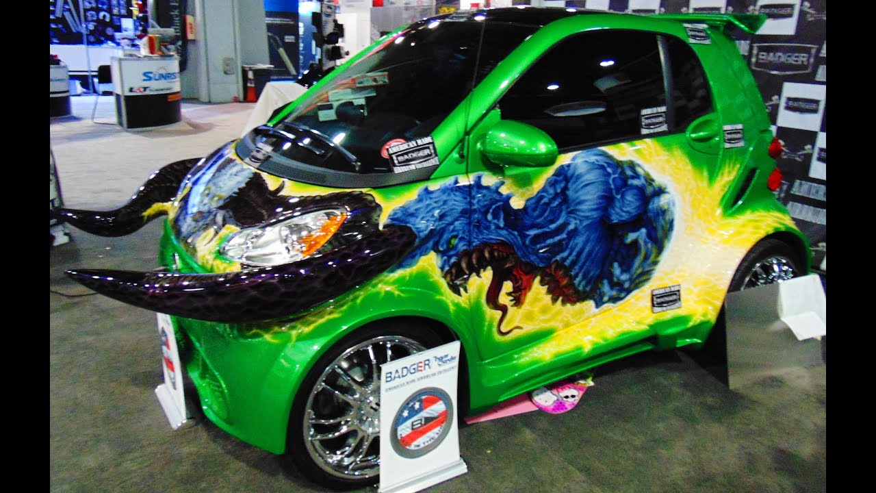 Horny Mike Horned Smart Car SEMA YouTube - The count car show