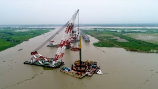 Construction of Bangladesh's largest bridge makes headway