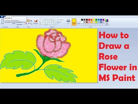 How to draw a rose flower in ms paint simple children Teach me how to draw a flower