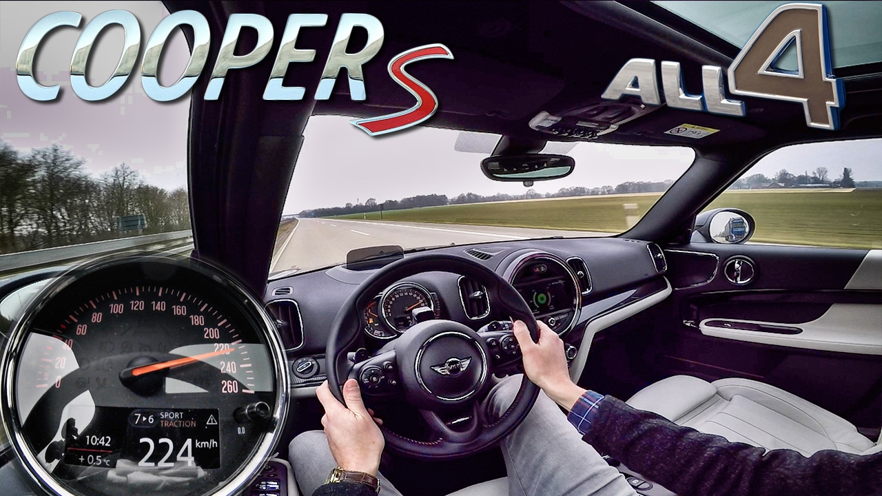 Mini Countryman 2017 Cooper S All4 Top Speed Acceleration Autobahn