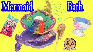 Mermaid Barbie Doll Bath Time in Disney Princess Ariel