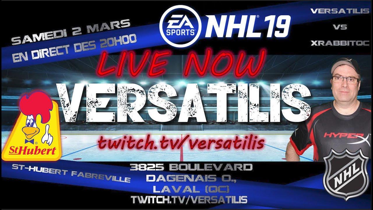 La soirée du hockey NHL19 du 2 mars 2019 au St-Hubert Fabreville. (4k)