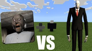 SLENDERMAN vs GRANNY HORROR in Minecraft PE