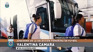 Valentina Camara y la visita de Tapia y Scaloni