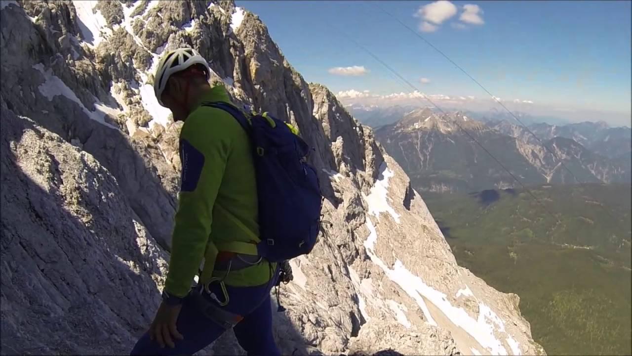 Klettersteig Eisenzeit : Kletterroute eisenzeit u vom riffelriss auf die zugspitze
