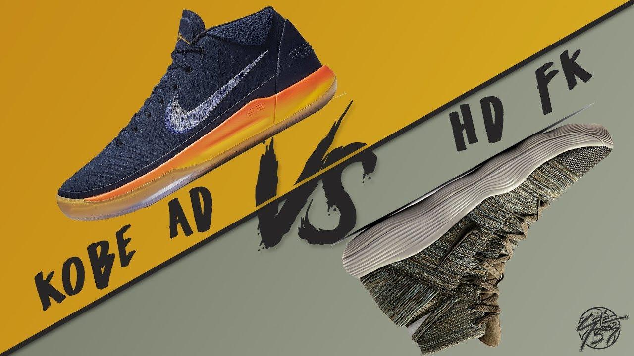 promo code ae3fc cebf2 Nike Kobe A.D. MID vs. Hyperdunk 2017 Flyknit!
