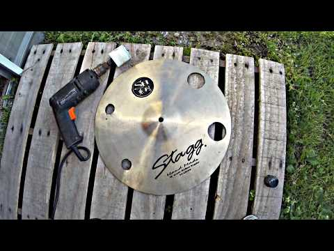 Repairing/Drilling Cracked Cymbal (PART II) - How To Create O-Zone / Effect Cymbal