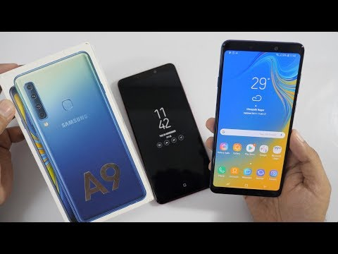 Samsung Galaxy A9 Unboxing & Overview with Quad Rear Cameras