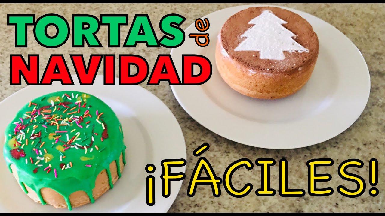 Pasteles De Navidad Fáciles Tortas Navideñas Sencillas Youtube