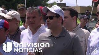 El senador republicano Marco Rubio visita Cúcuta, ciudad colombiana fronteriza con Venezuela.