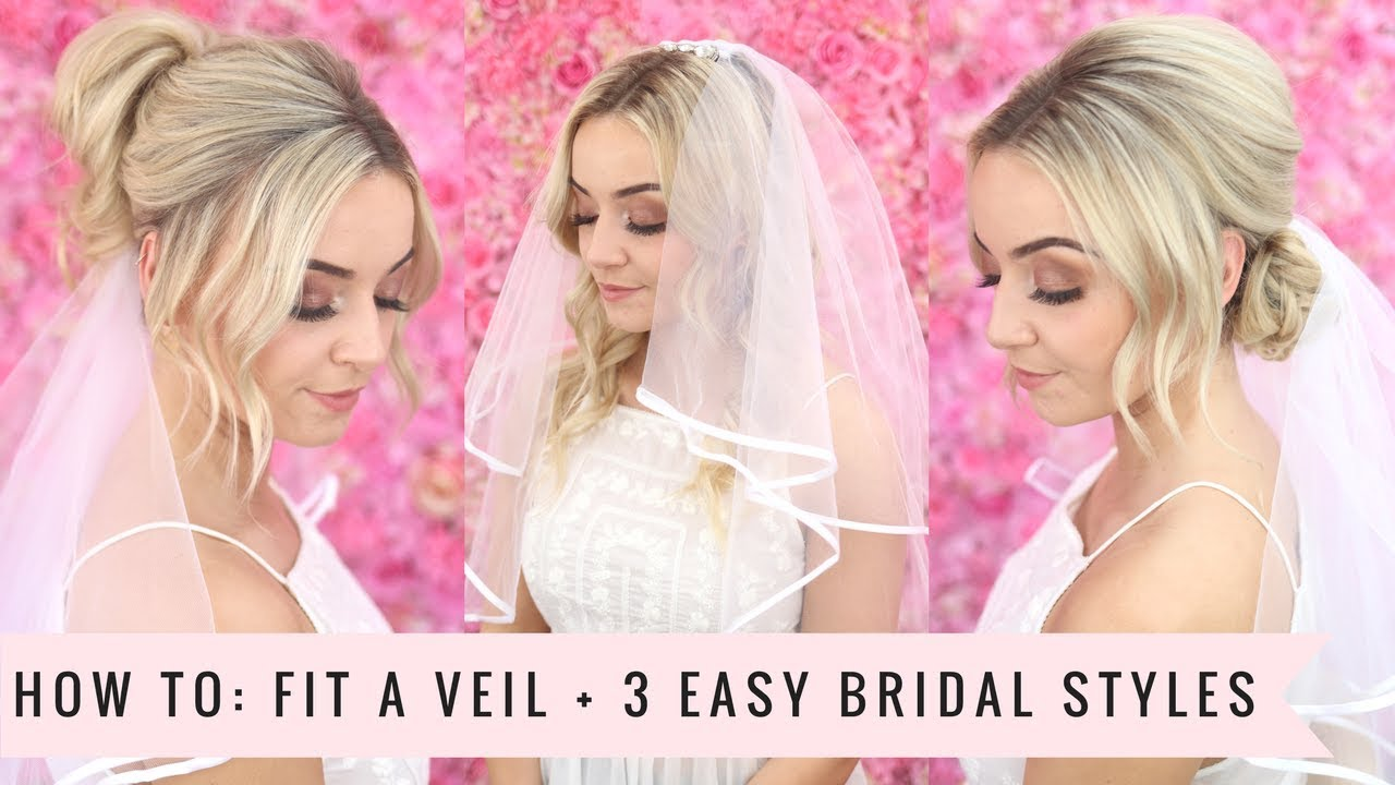HOW TO: Fit a Veil with 3 Easy Bridal Styles by SweetHearts Hair ...