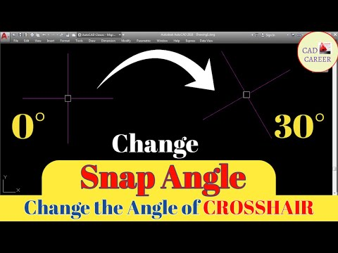 Snapang In AutoCAD | SnapAngle Tips In AutoCAD | CAD CAREER
