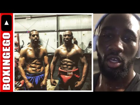 TERENCE CRAWFORD READY TO PUNCH JEFF HORN IN THE FACE - BUD DIESEL INSANELY CUT 4 MOVE UP (EWW)