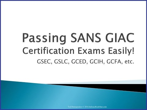 Passing SANS GIAC Certifications made Simple