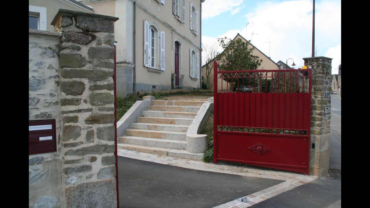 R novation maison bourgeoise cour brise vue escalier et portail youtube - Brise vue pour portail ...