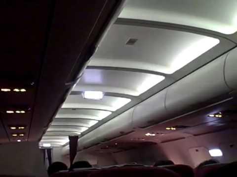 Disco Lights on Qatar Airways flight