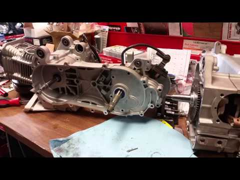 GY6 How To Install Gears Transmission Taida 08 - YouTube