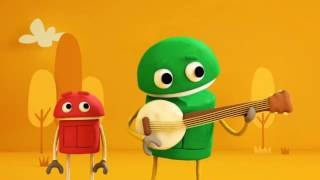 ABC song with robot cartoons