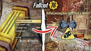 Fallout 76 | Launching a Nuke in Battle Royale! (Fallout 76 Nuclear Winter)