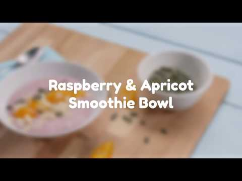 Raspberry & Apricot Smoothie Bowl Love Canned Food