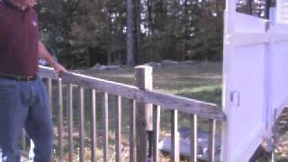 How To Make A Swinging Gate/fence And Tennis Backboard