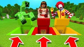 Minecraft PE : DO NOT CHOOSE THE WRONG BUNKER! (Mutant Creeper, Annabelle & Ronald McDonald)