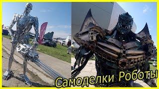 Необычные роботы своими руками. Робот T-800 без кожного покрова. Робот Марвел