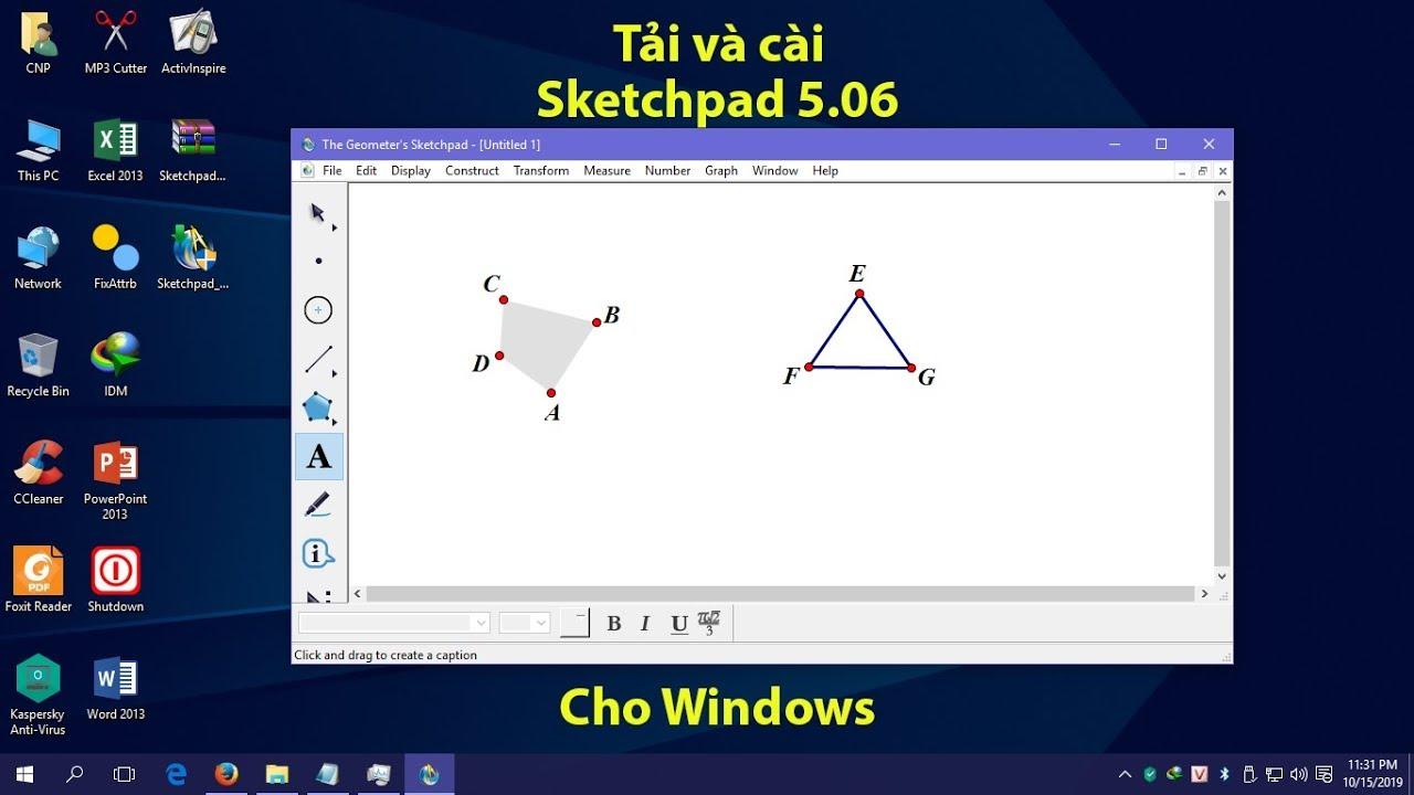 Hướng dẫn tải và cài Sketchpad 5.06 mới nhất