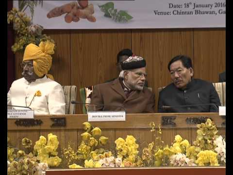 PM Modi at the Inauguration of State Agriculture Minister's Conference in Sikkim