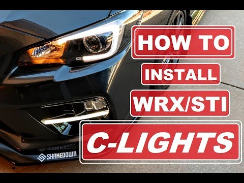 WRX STI C-LIGHTS // HOW TO INSTALL TUTORIAL // 2015-2018 WRX STI