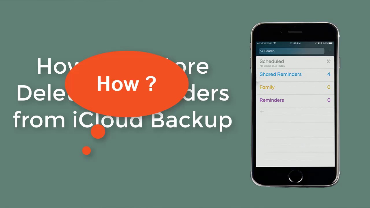 Easiest Guide to Restore Deleted iPhone Reminders from iCloud Backup
