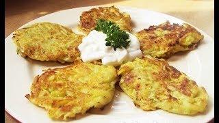 Кабачковые оладушки с сыром и чесноком! Невероятно вкусные оладушки из кабачков по простому рецепту!