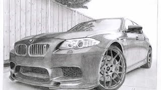 BMW M5 Speed Drawing
