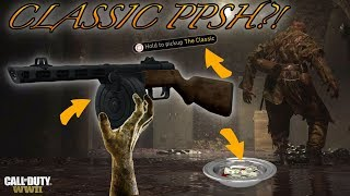 WWII ZOMBIES - HOW TO UNLOCK THE *CLASSIC PPSH* ON THE FINAL REICH!  MONEY BOWL SIDE EASTER EGG!