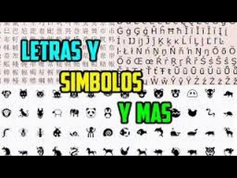 Letras y Simbolos raros para agar.io