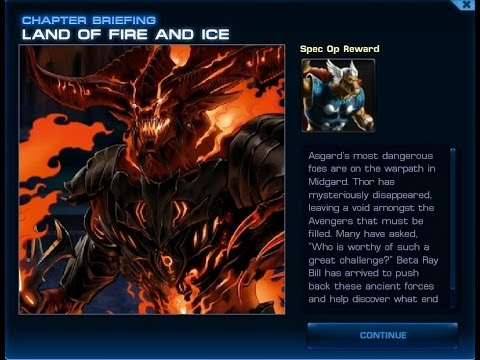 Marvel Avengers Alliance - Special Operation 24: Land of Fire and Ice