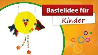 Bastelidee für Kinder | Vogel Basteln - trendmarkt24 Bastelideen für den Kindergarten