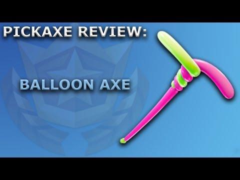 Balloon Axe Pickaxe Review + Sound Showcase! ~ Season 5 Battle Pass Item ~ Fortnite Battle Royale