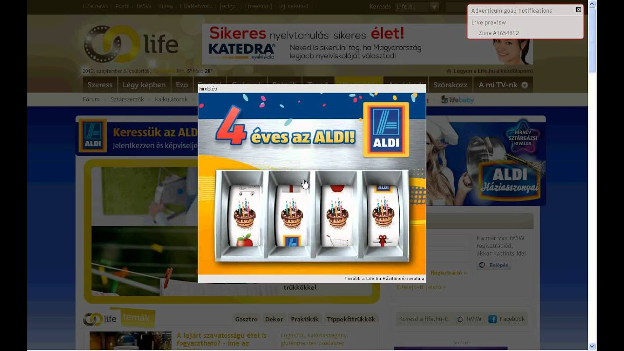 Aldi Reclame Life Hu N Aldi Interstitial Banner Youtube