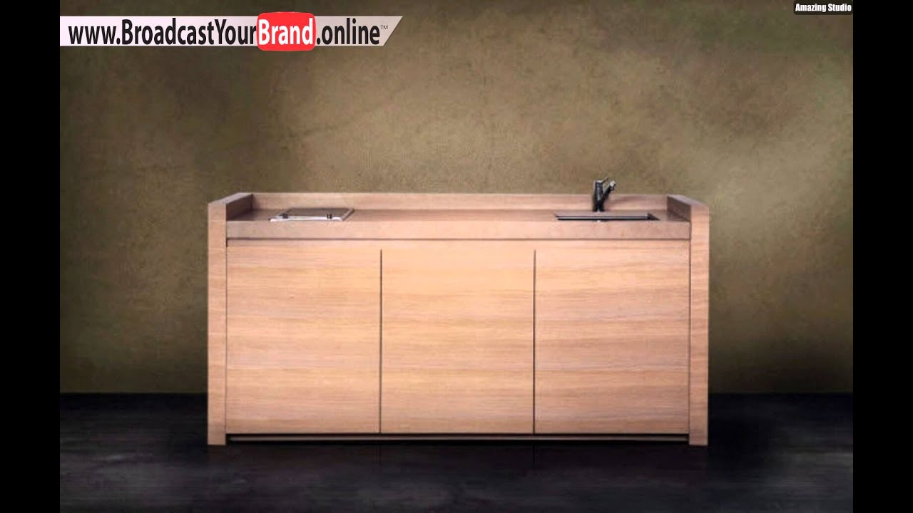 Miniküche design  Vatel Hvl Küchenblock Holz Design Lösung Mini Küche - YouTube