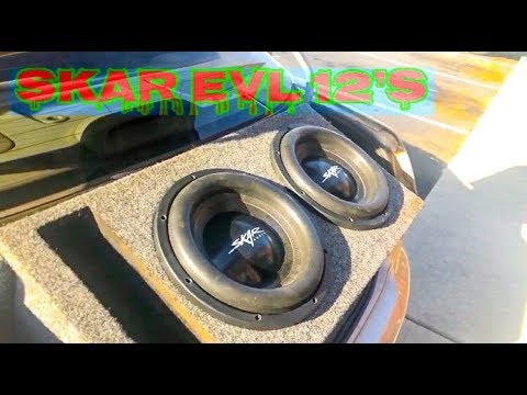 "Skar Evl 12""' SubwoofersTUNED TO 32hz"