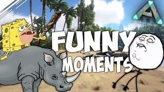 Смешные моменты в АРК с трайбом #3 | Рофлы и куча фана в ARK Survival Evolved
