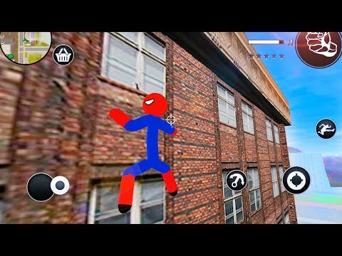 Spiderman Stickman Rope Hero Gangstar Crime (game By The Quynh Bui) Android Gameplay Trailer